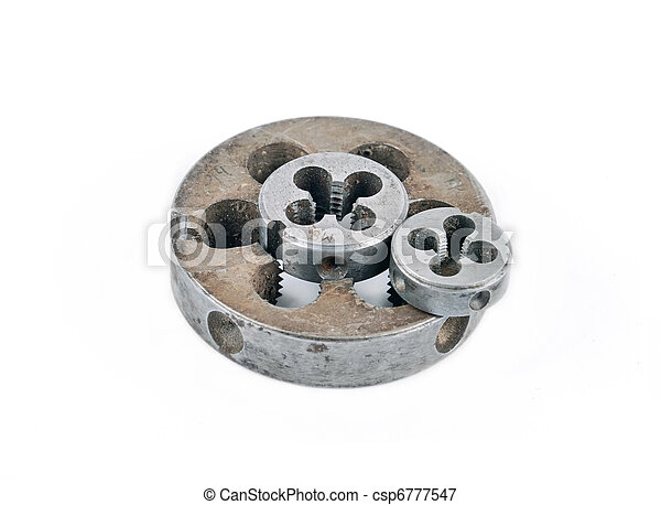 Thread cutting die, isolated on a white background - csp6777547