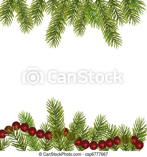 Xmas tree branches. Vector  - csp6777667