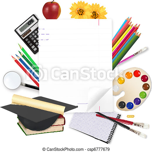 Back to school. Notepad with school - csp6777679
