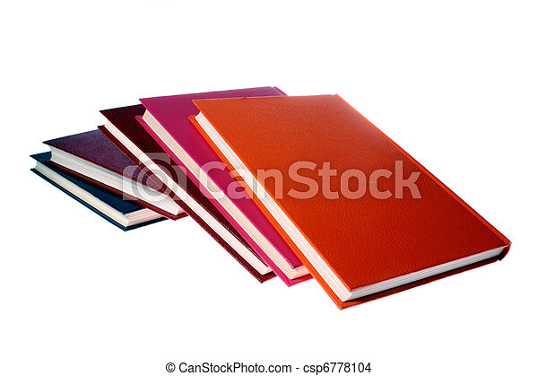hardcover books isolated on white - csp6778104