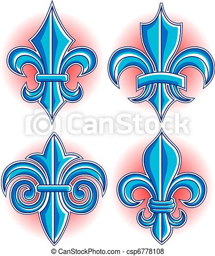 Illustration de symbole de fleur lys fleur de lys symbole csp6778108 recherchez des - Symbole fleur de lys ...
