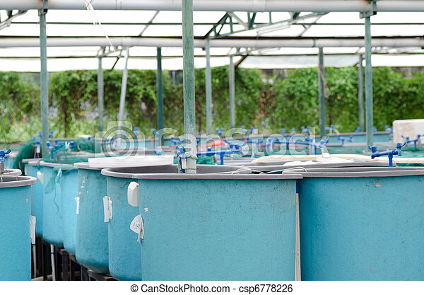 Agriculture aquaculture water system farm   - csp6778226