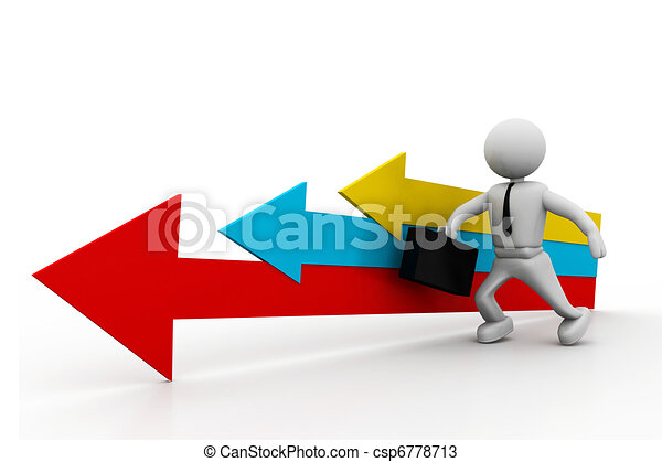 Movement direction to success - csp6778713