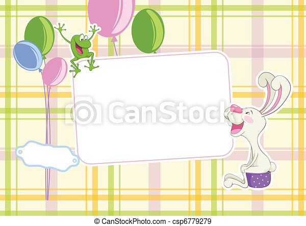 Baby frame background - csp6779279