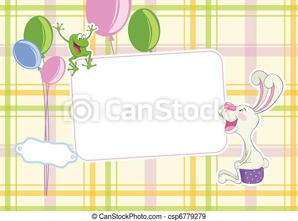 Baby frame background - csp6779279