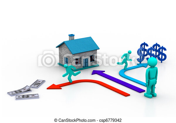 Purchase or house sale - csp6779342