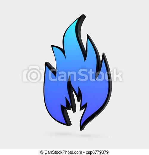solid flame symbol - csp6779379