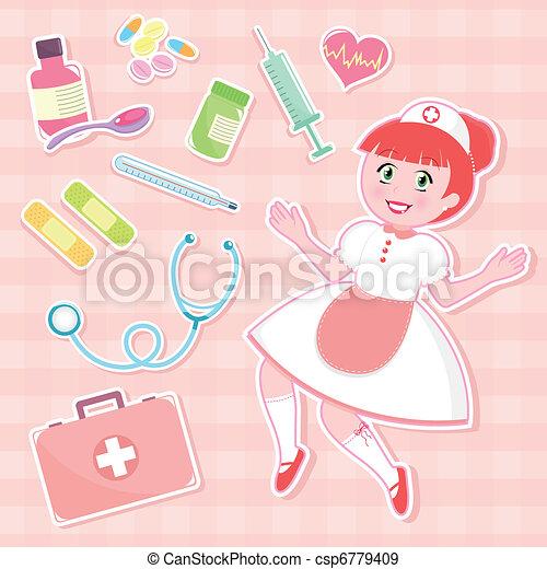 nurse set - csp6779409