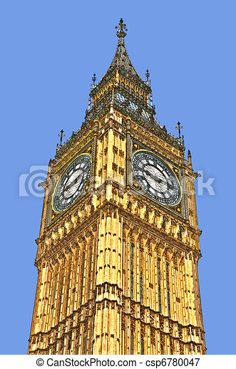 Stock Illustrations of Big Ben drawing - Big Ben csp6780047 - Search ...