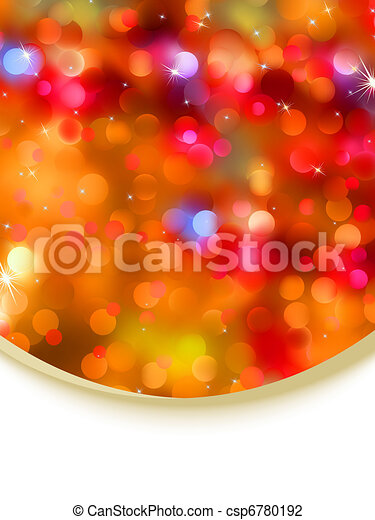 Glitter holiday card template. EPS 8 - csp6780192