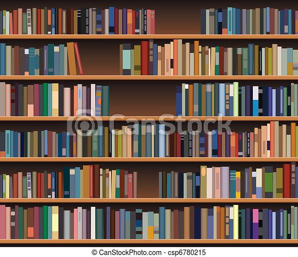 Clipart Vector of vector bookshelf - vector bookshelf csp6780215 - Search Clip Art, Illustration ...