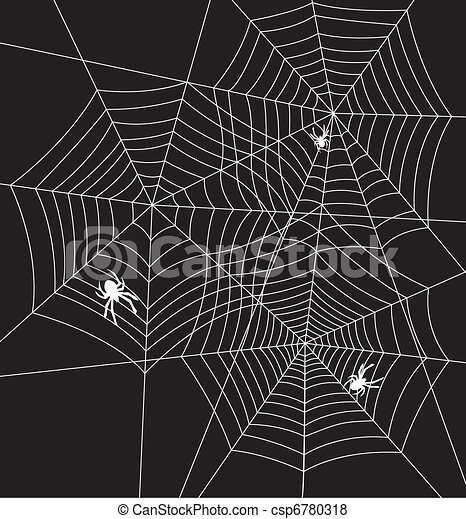 Vector - vector illustration of spiders and webs - stock illustration ...