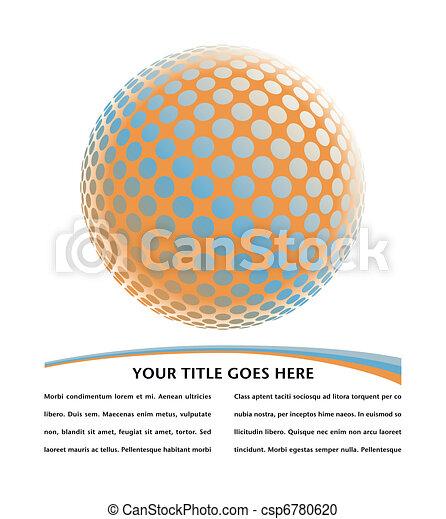 Colorful digital globe design. - csp6780620