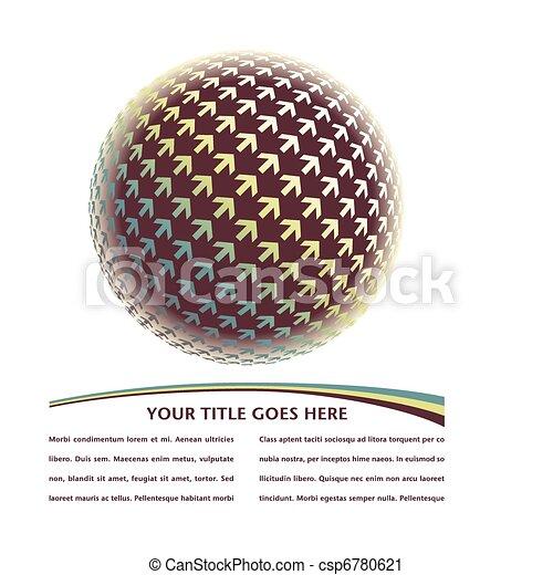 Positive digital arrow globe vector - csp6780621