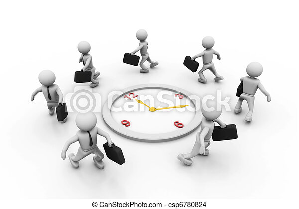 Group of businesspeople     - csp6780824