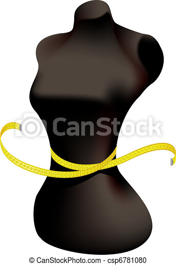 Mannequin and measuring tape. - csp6781080