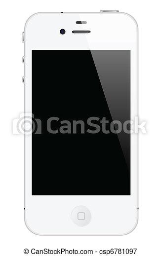 white iphone 4 - csp6781097