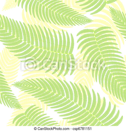 Seamless background with ferns. - csp6781151