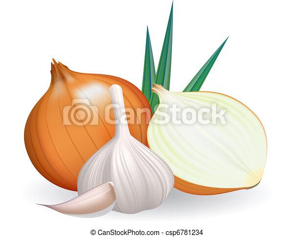 Onion and garlic. - csp6781234