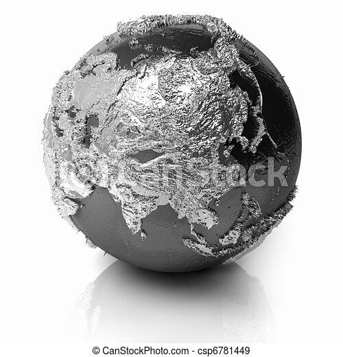 Silver Globe - Asia - csp6781449