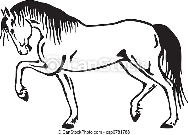 Horse vector sketch - csp6781788
