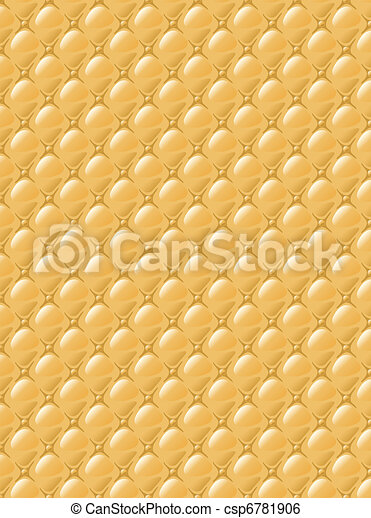 Stylization of upholstery fabric with buttons. Background. - csp6781906