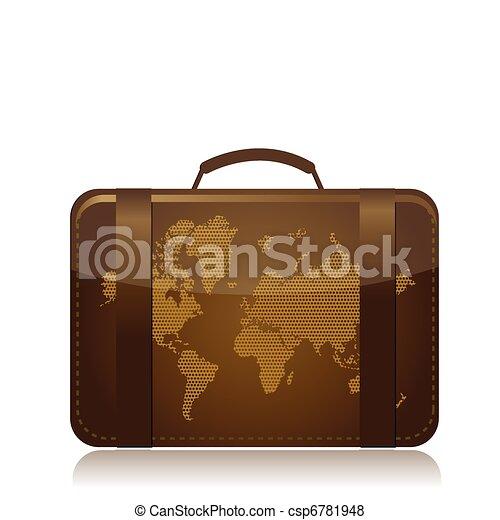 travel luggage illustration concept - csp6781948