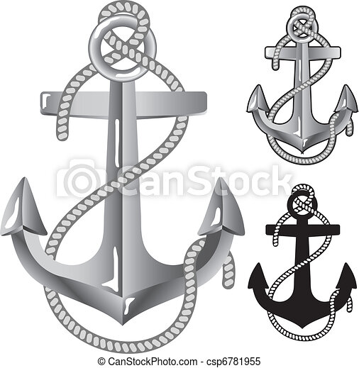 Silver anchor. - csp6781955