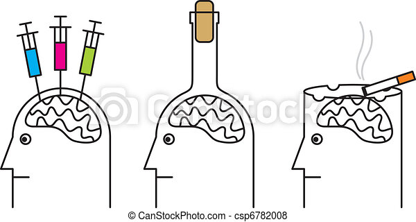 Habits harmful to health. Smoking, drug addiction, alcoholism. - csp6782008