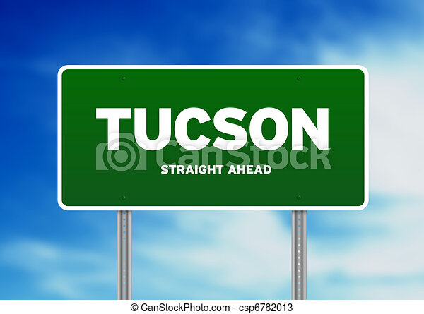 Tucson, Arizona Highway Sign - csp6782013