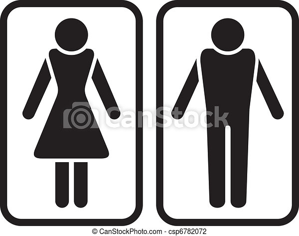 Vector Illustration of Male & Female Symbol. csp6782072 - Search ...