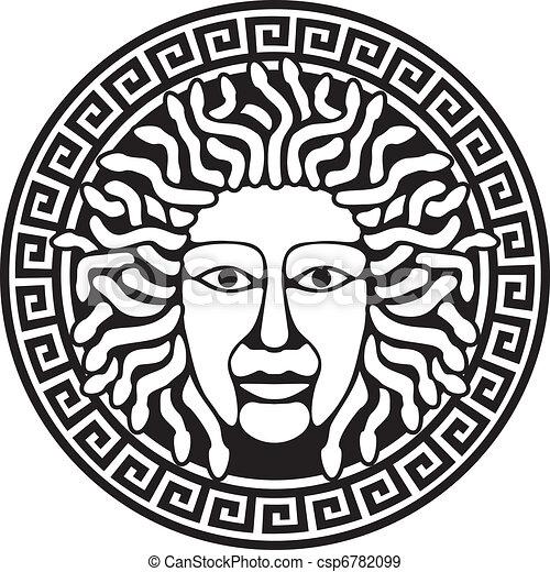 Clip Art Medusa Clipart medusa stock illustration images 1014 illustrations of gorgon head with snake hair round