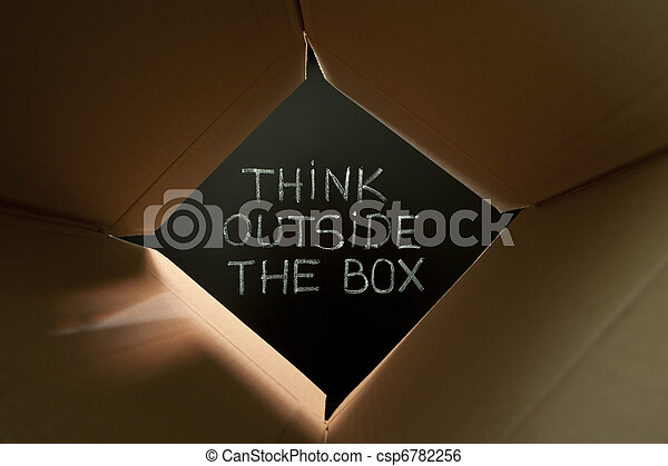 Think outside the box on blackboard - csp6782256