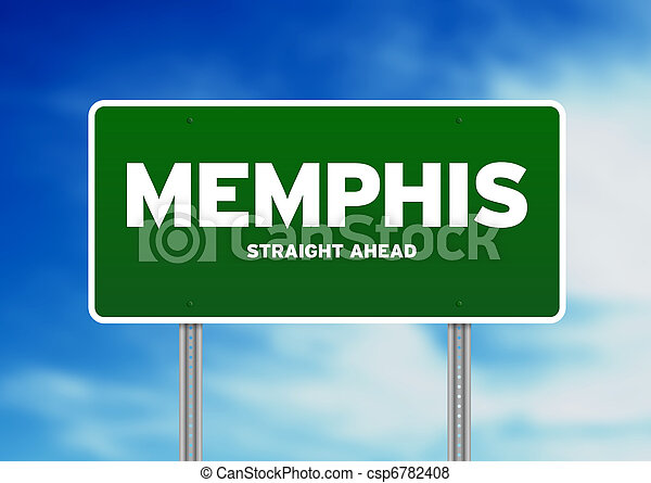 Memphis, Tennessee Highway Sign - csp6782408