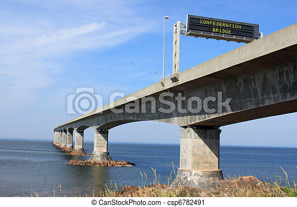Confederation Bridge to Prince Edward Island - csp6782491