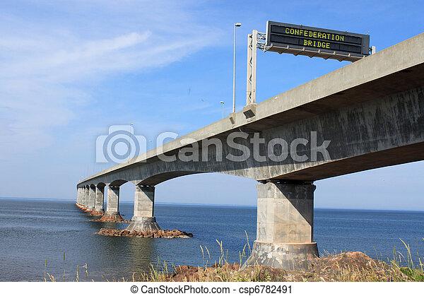 Confederation Bridge to Prince Edward Island - csp6782491