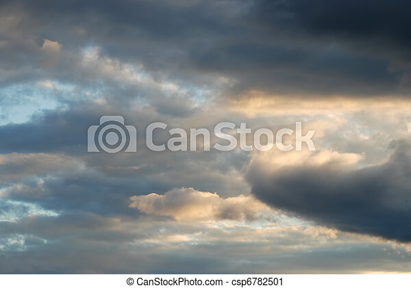 sunset sky after a storm