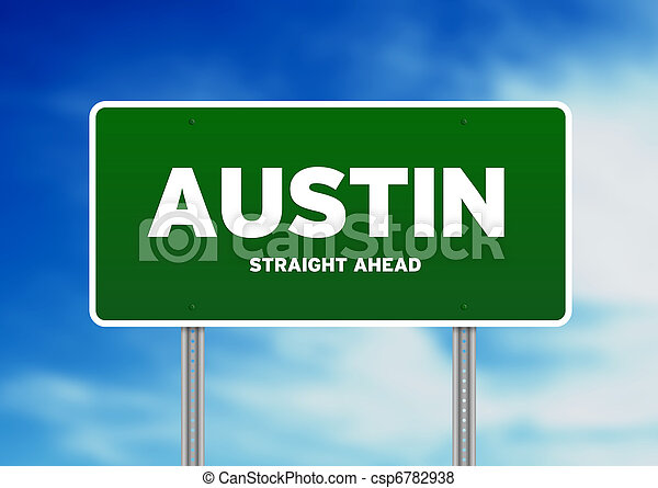 Austin, Texas Highway Sign - csp6782938