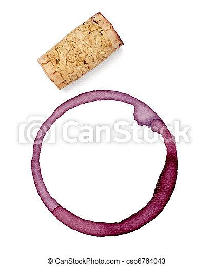 alcohol drink wine stain liquid cork opener - csp6784043