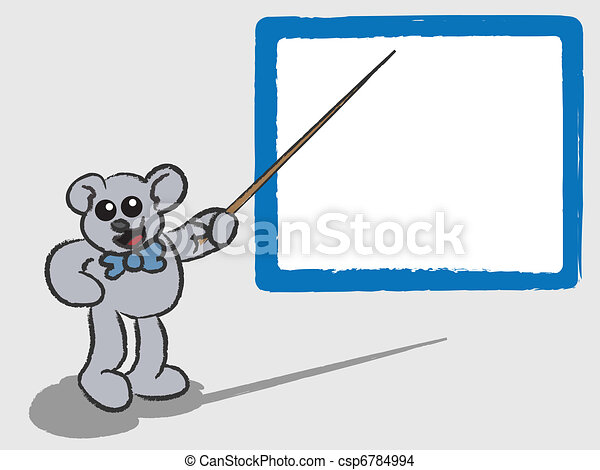 Bear Teaching with Whiteboard - csp6784994