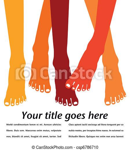 Healthy feet design. - csp6786710