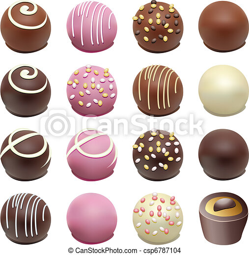 vector chocolate candies - csp6787104