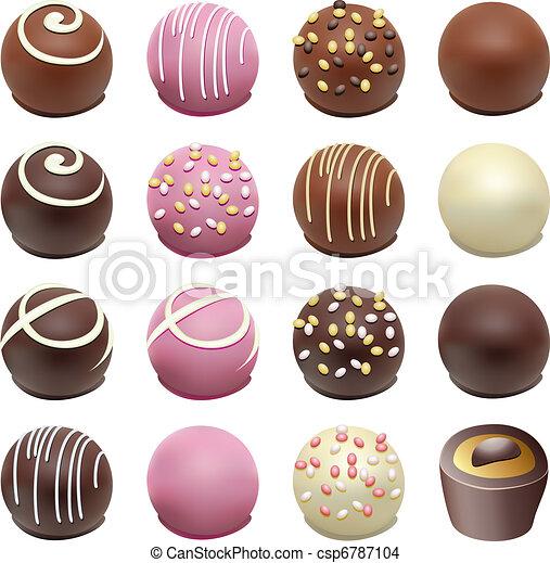 vector chocolate candies - csp6787104
