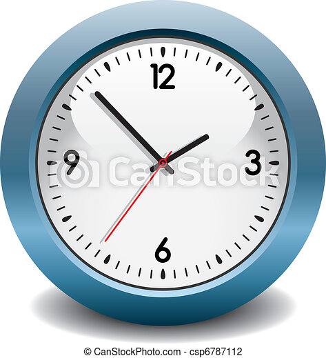 vector blue clock - csp6787112