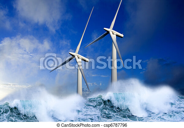 Energie, erneuerbar - csp6787796