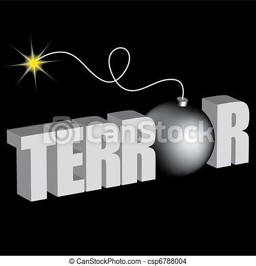 word terror with bomb - csp6788004
