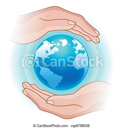 globe in hands - csp6788038