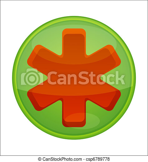 medic symbol emergency red color - csp6789778