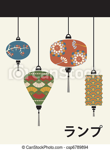 Japan lamps background - csp6789894