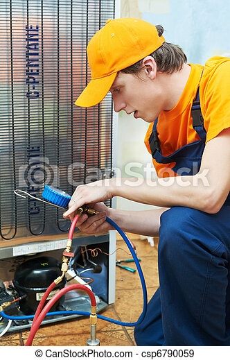 repair work on fridge appliance - csp6790059